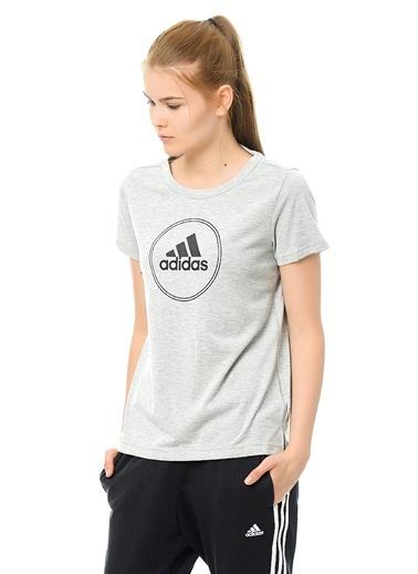 Bisiklet Yaka Baskılı Tişört-adidas